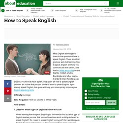 How to Speak English