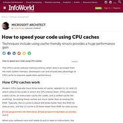 How to speed your code using CPU caches