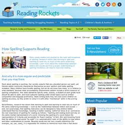 How Spelling Supports Reading