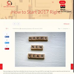 Start The Year 2017 With God