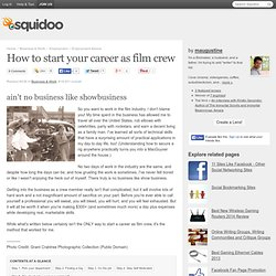 How to start your career as film crew