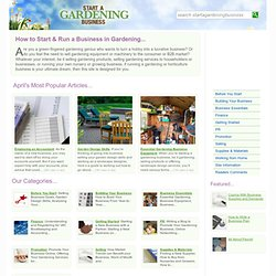 How to Start Up and Run a Gardening Business at Start A Gardening Business (UK)