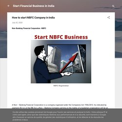 How to start NBFC Company in India