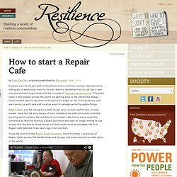 How to start a Repair Cafe