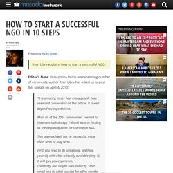 How to start a successful NGO in 10 steps