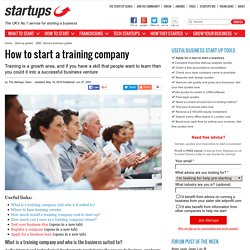 How to start a training company