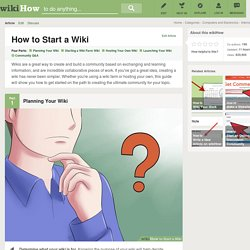 How to Start a Wiki: 17 Steps