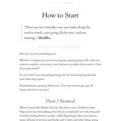 » How to Start