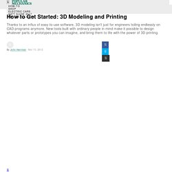 How to Get Started 3D Modeling and Printing