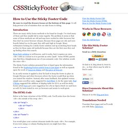 How to Use the Sticky Footer HTML & CSS Code