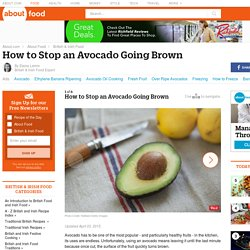 How to Stop an Avocado Going Brown