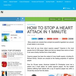 HOW TO STOP A HEART ATTACK IN 1 MINUTE