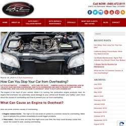 How Can You Stop Your Car from Overheating?