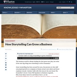 How storytelling can boost a business