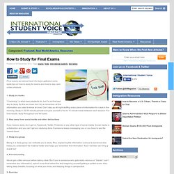 International Student Voice