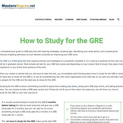 How to Study for the GRE? - MastersDegree.net