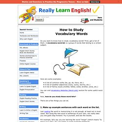 How to Study Vocabulary Words
