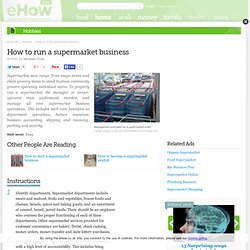 How to run a supermarket business