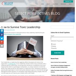 How to Survive Toxic Leadership