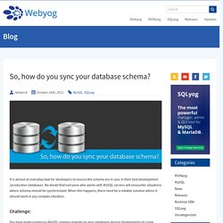 How to Sync MySQL Database Schema