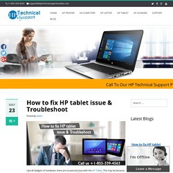 How to fix HP tablet issue & Troubleshoot