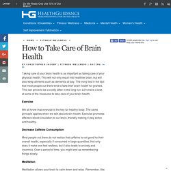How to Take Care of Brain Health