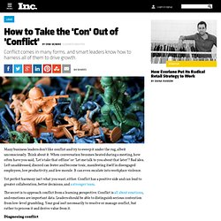 How to Take the 'Con' Out of 'Conflict'