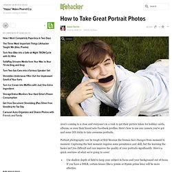 How to Take Great Portrait Photos