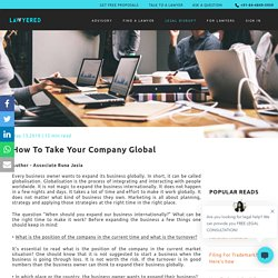 How To Take Your Company Global