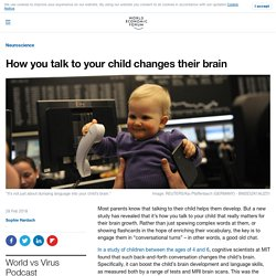How you talk to your child changes their brain