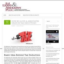 How do tax deductions work-Ed Lloyd CPA