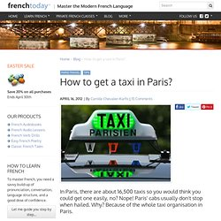 How to get a taxi in Paris?