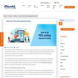 How to do TDS online payment easily