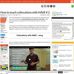 How to teach collocations with HAVE # 2