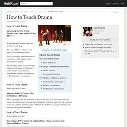 How to Teach Drama