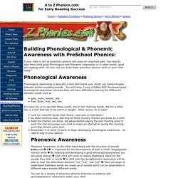 How do you teach preschool phonics?