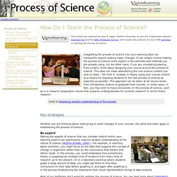 How to Teach the Process of Science