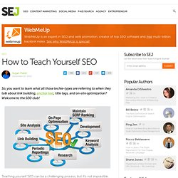 How to Teach Yourself SEO