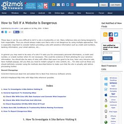 How to Tell If A Website Is Dangerous