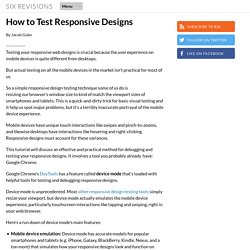 How to Test Responsive Designs