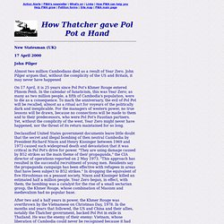 How Thatcher gave Pol Pot a Hand