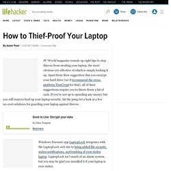 How to Thief-Proof Your Laptop