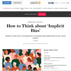 How to Think about 'Implicit Bias'