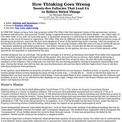 How Thinking Goes Wrong