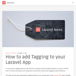 How to add Tagging to your Laravel App