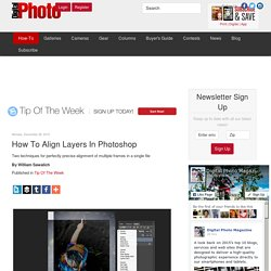 How To Align Layers In Photoshop