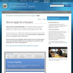 Apply for a New Passport
