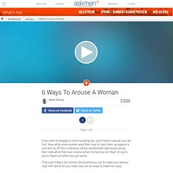 How to arouse women