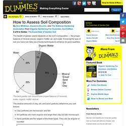 How to Assess Soil Composition