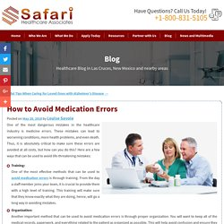 How to Avoid Medication Errors
